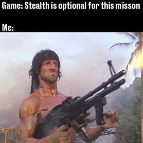 Stealth is optional