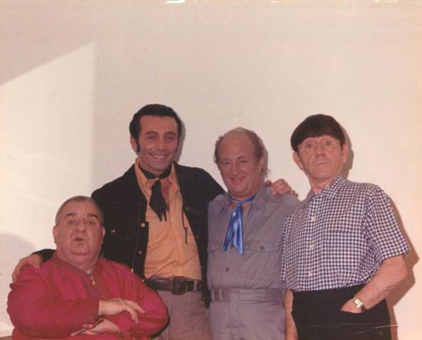 The last picture of The Three Stooges together. The last picture of The Three Stooges together.