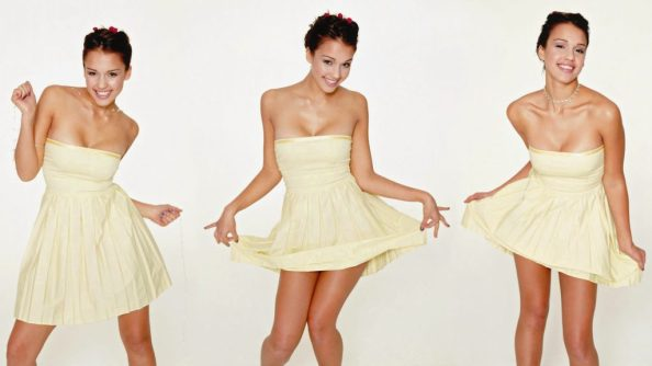 Jessica Alba in a yellow dress 1024x576 Jessica Alba in a yellow dress