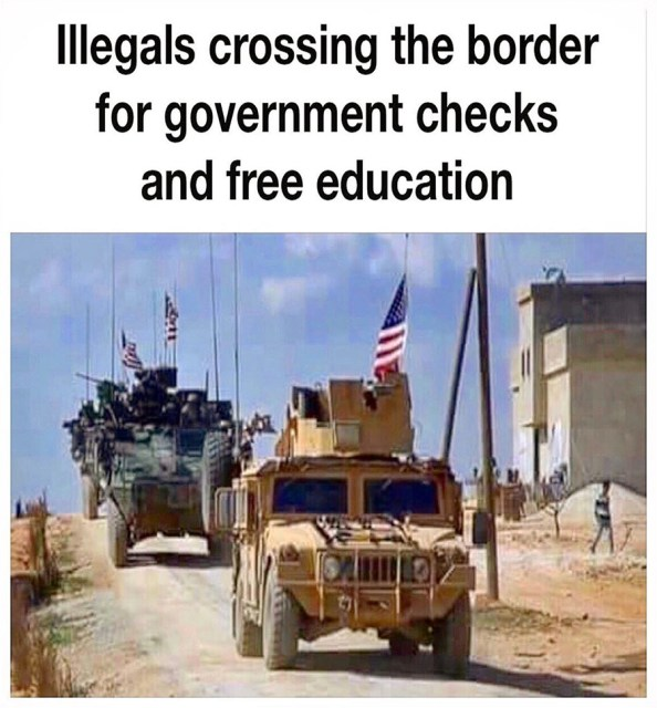 Illegals crossing the border