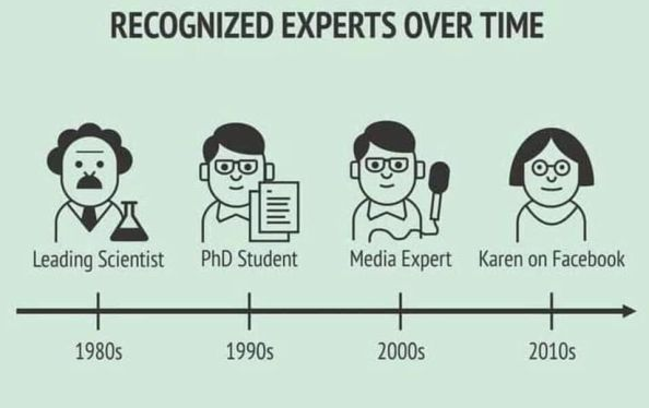 recognized experts over time recognized experts over time