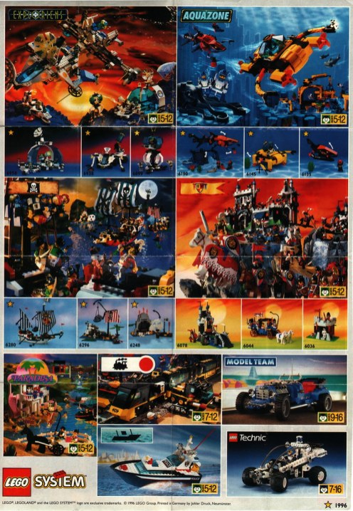 Lego poster 1996