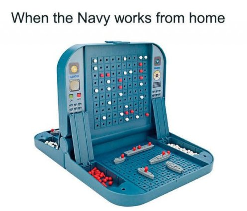 when the navy works from home