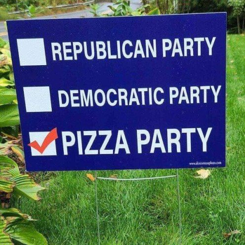 Pizza Party Sign