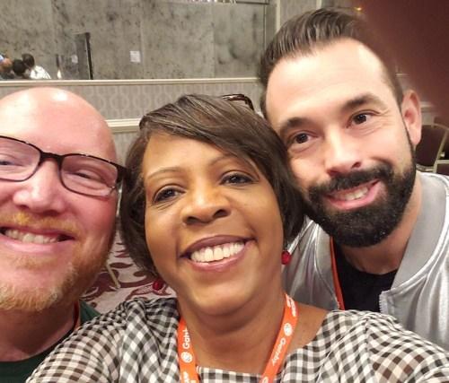 Doug Vann, Carole Bernard, and Rudy Dodier in a selfie