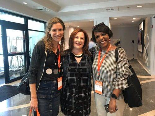 Suzanne Dergacheva, Heather Rocker, and Carole Bernard standing together