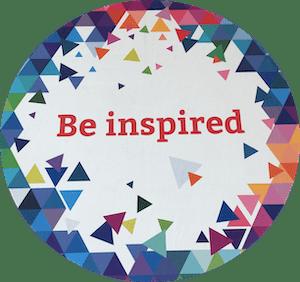 DrupalCon sticker - be inspired
