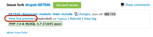 Current UI for live previews in Drupal core issues