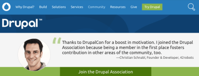 Thanks to DrupalCon for a boost in motivation. I joined the Drupal Association because being a member in the first place fosters contribution in other areas of the community, too. - Christian Schnabl, Founder & Developer, 42robots.