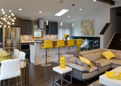 Open Contemporary South Suburban Kitchen Remodel