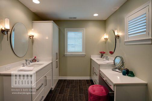 Contemporary Elmhurst Master Bath Remodel | Drury Design Chicago
