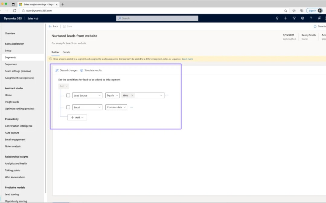 Automatically route deals to the right sellers by using segments in assignment rules