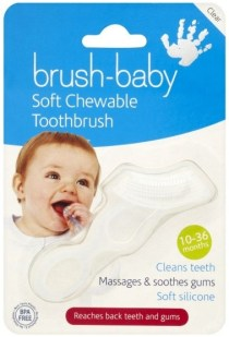 Brush-baby Soft Teether Brush for babies and toddlers - Clear