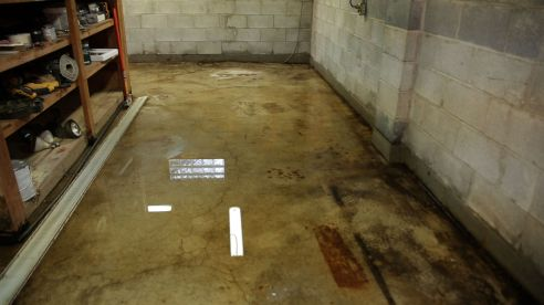 Interior of the flooded basement