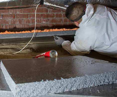 X-grade Insulation Panels Crawl Space Installation