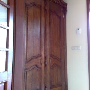 Drzwi wejsciowe zdobione na wymiar ciemne