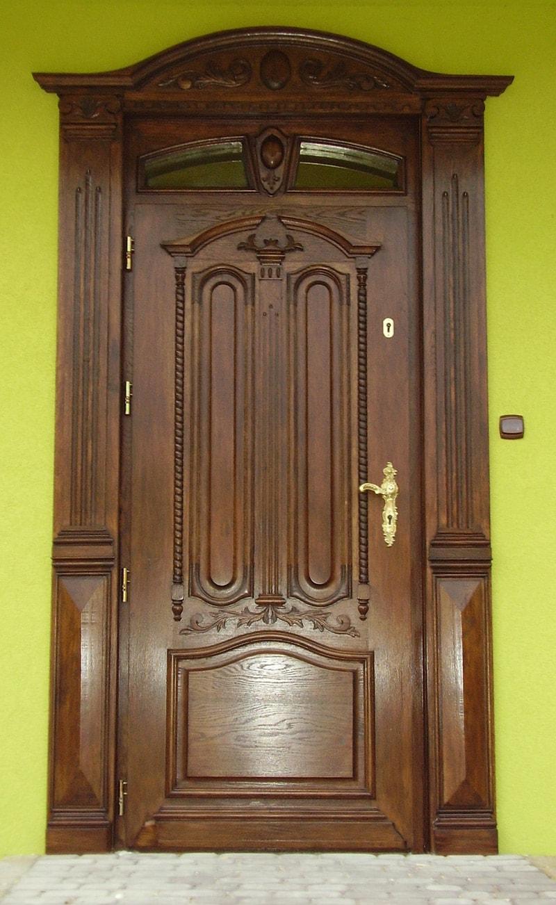 Drzwi zewnetrzne debowe