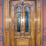 Drzwi zewnetrzne debowe z nakladka ozdobna