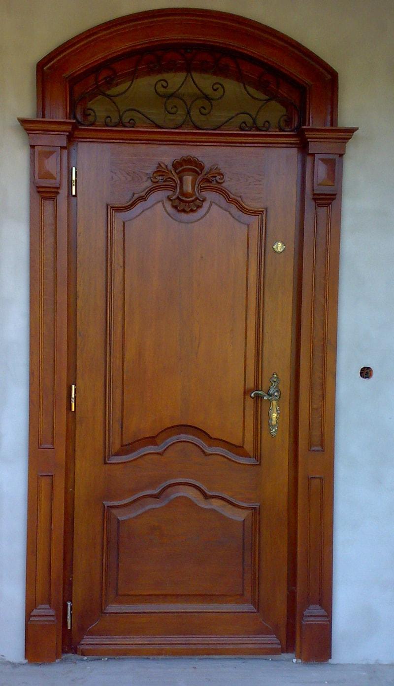 Drzwi zewnetrzne debowe proste