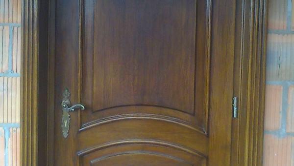 Drzwi wejściowe dębowe ręcznie robione stylowe