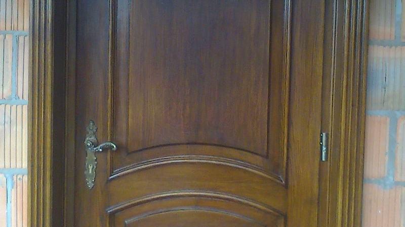 Drzwi wejsciowe debowe recznie robione stylowe