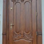 Stylowe drzwi debowe zewnetrzne