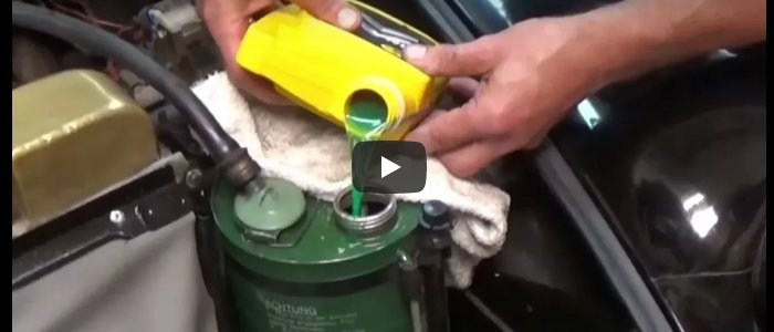 Changing the Hydraulic Fluid
