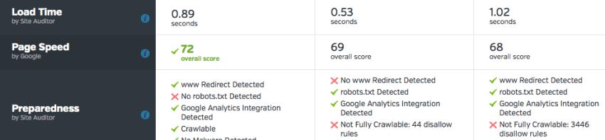 Site Metrics website audit