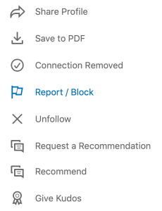 LinkedIn connection removed