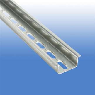 A 10 Piece Box of Two Meter High Profile Slotted DIN Rail 35 X 15 mm (25 x 5.2 mm Slots) #111.243.