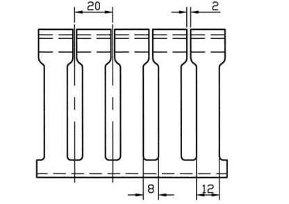 AN 8 PIECE BOX OF 2 X 3 WHITELOW DENSITY-LARGE FINGERS