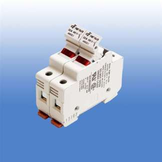 2 POLE FUSE HOLDER FOR CLASS CC FUSES WITH 120V NEON INDICATOR