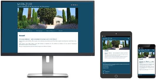 """Le site www.mirazur.eu est """"Responsive-Design"""""""