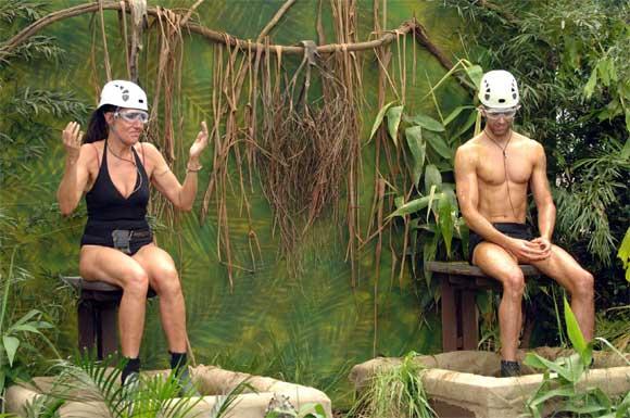 Katy und Jay bei der Dschungelprüfng am Tag 15