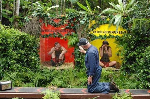 Dr. Bob auf dem schlauchenden Band der Dschungelprüfung 2015