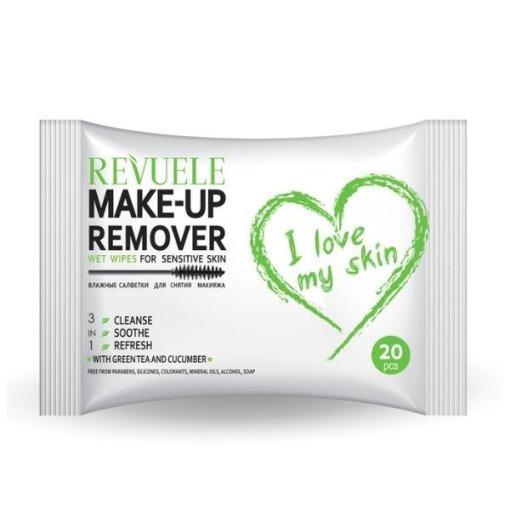 Wet Wipes Makeup Remover REVUELE Sensitive Skin 20τμχ