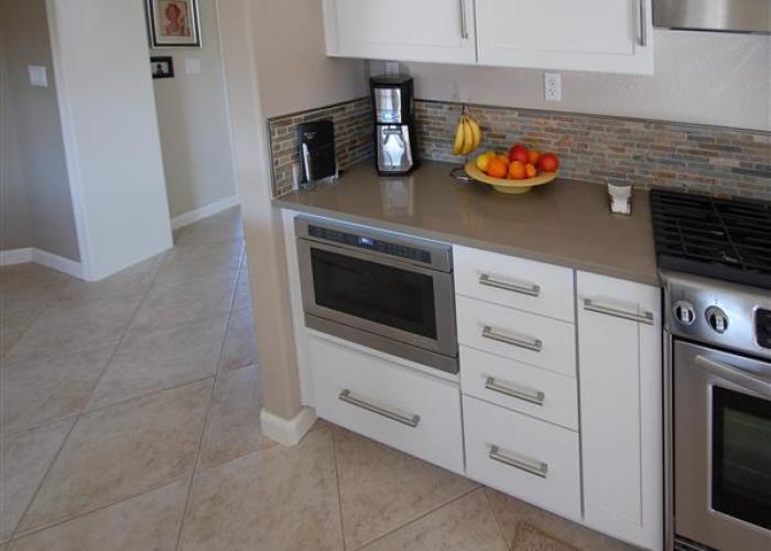 kitchen remodel drawer microwave