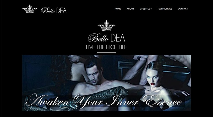Website design, logo and branding // bellodea.com