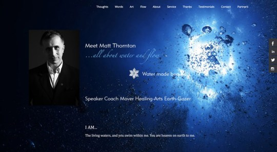 Website design, graphic design // matt-thornton.com