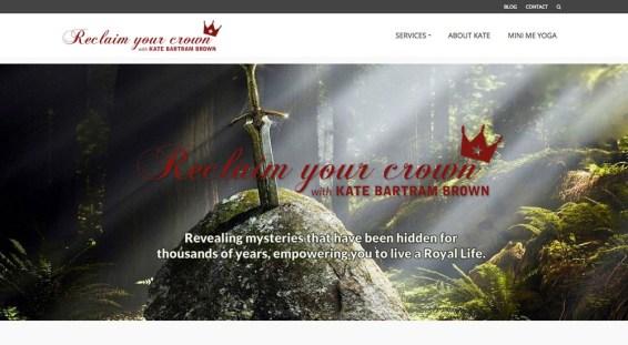Website design, logo and branding // reclaimyourcrown.co.uk