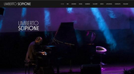Website design, logo design // umbertoscipione.com