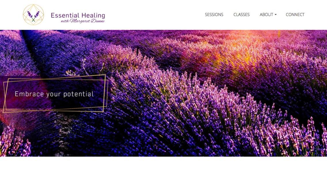 web design, logo and brand design, copy-writing // essentialhealing.eu