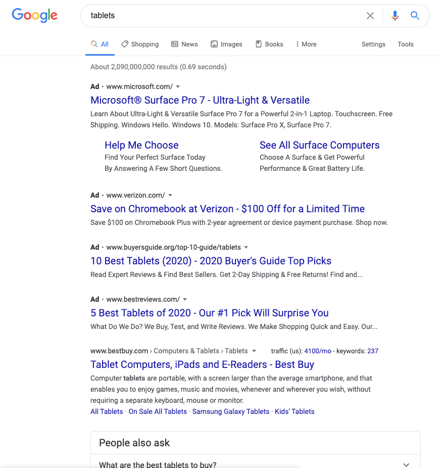 paid media - search