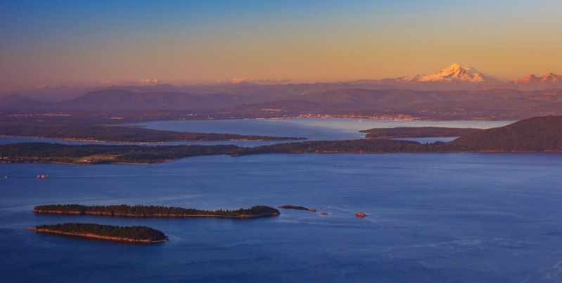 Baker above the Salish Sea
