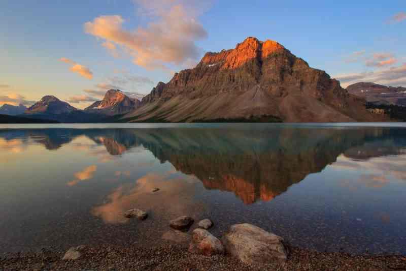 Bow Lake Pristine Sunrise