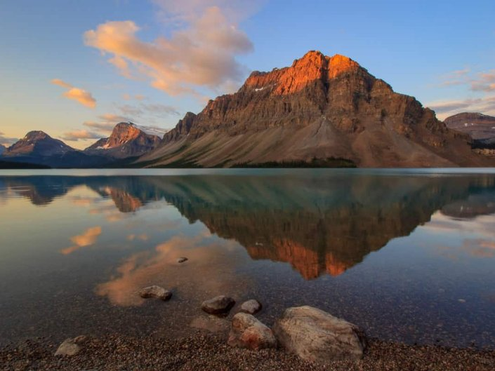 Bow Lake Pristine Sunrise