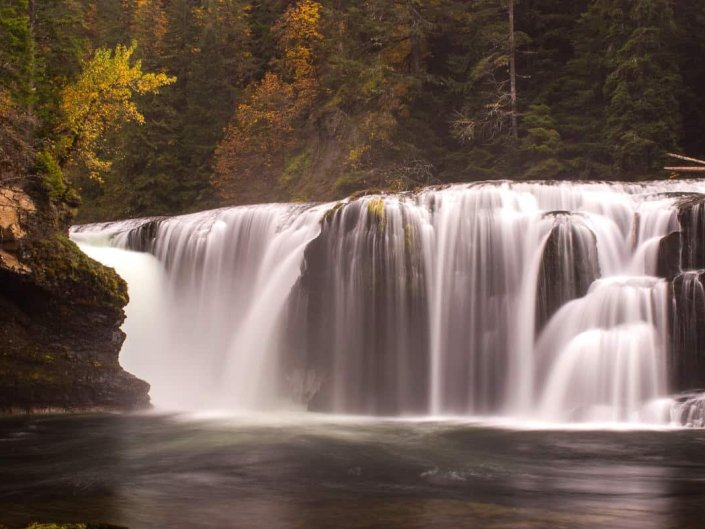 Close Up of Lower Lewis Falls