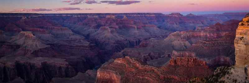 Dusk in the Grand Canyon