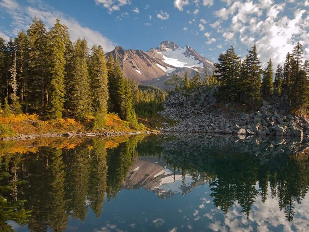 Mount Jefferson Reflecting in Bays Lake