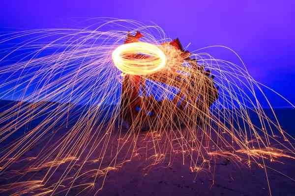Steel Wool on the Bow of the Peter Iredale